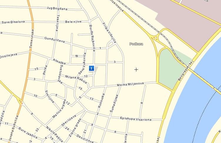 ulice novog sada mapa Sundjer za komfor ulice novog sada mapa